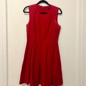 GAP | Classic red fit and flare dress